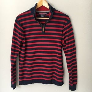 Vineyard Vines Pullover Sweater Blue Red Striped S